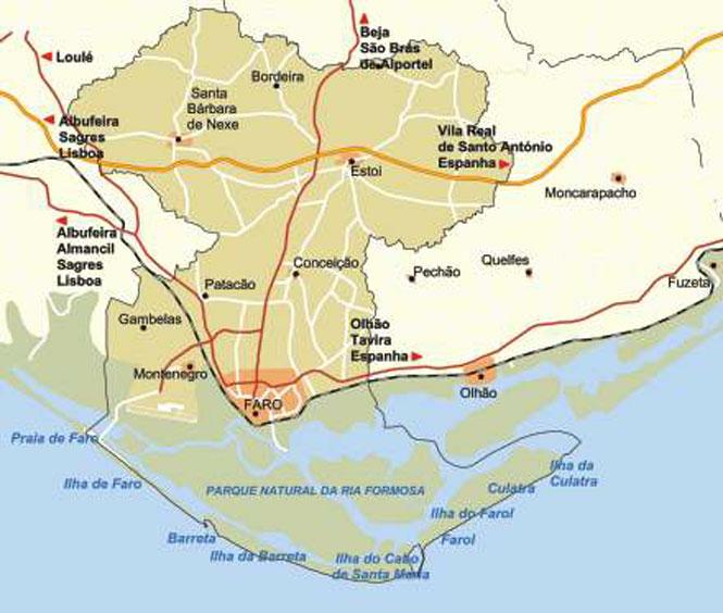 mapa de portugal faro Mapa da Localidade de Faro mapa de portugal faro