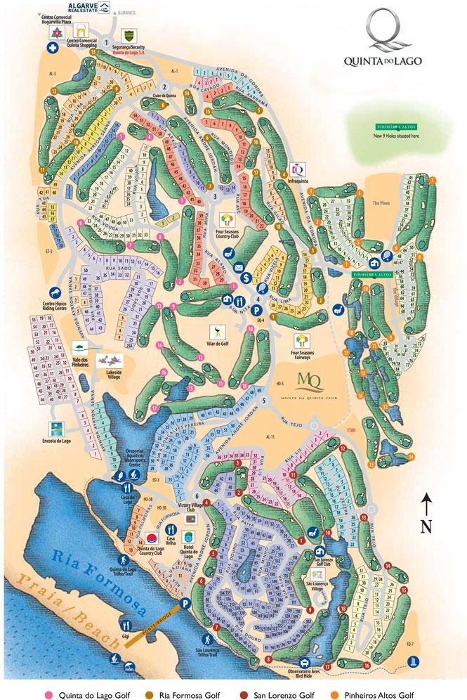 mapa quinta do lago Mapa   Quinta do Lago mapa quinta do lago