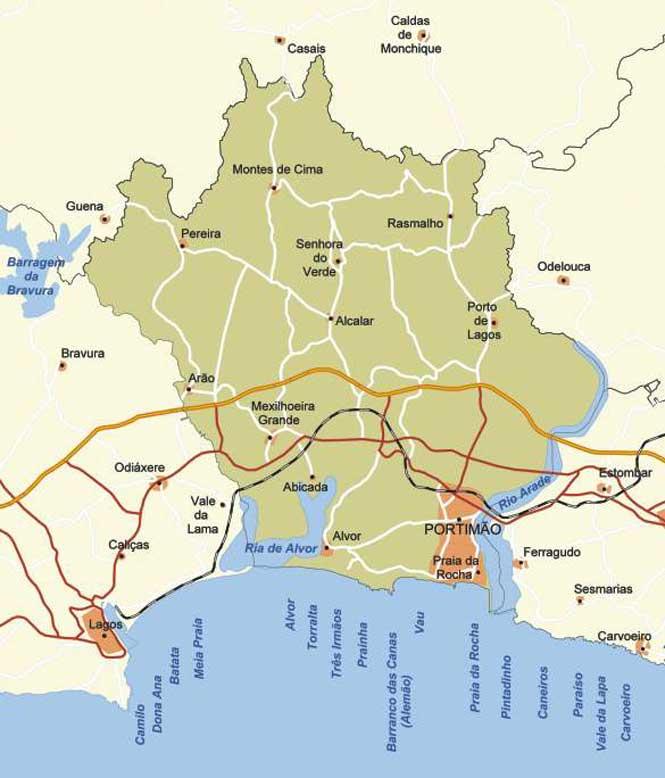 mapa da cidade de portimao Mapa da Localidade de Portimão mapa da cidade de portimao